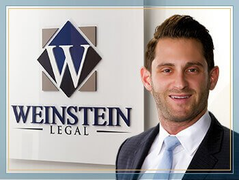 Justin Weinstein in the Weinstein Legal office in Fort Lauderdale