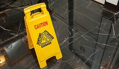 signage prevents slip and fall lawsuits filed by an accident attorney