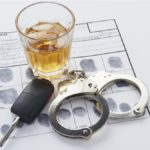 Fingerprint card of individual arrested for DUI.