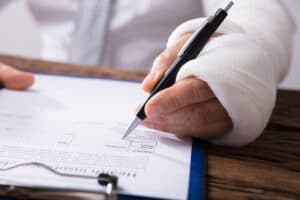 injured individual filing a claim for compensation