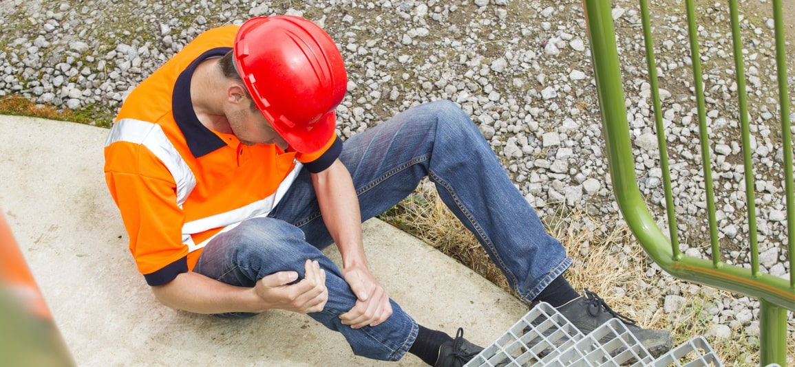 Man sufferring an injury while on a construction site in FL